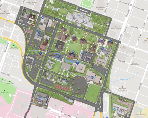 Visiting Willamette - About on nottingham university psychology building map, u of portland logo, downtown portland map, pdx campus map, college of the holy cross map, portland oregon map, u texas map, u mary map, portland chinatown map,