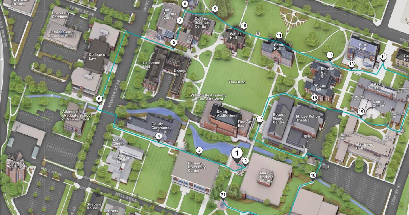 eastern oregon university campus map Visiting Willamette About eastern oregon university campus map