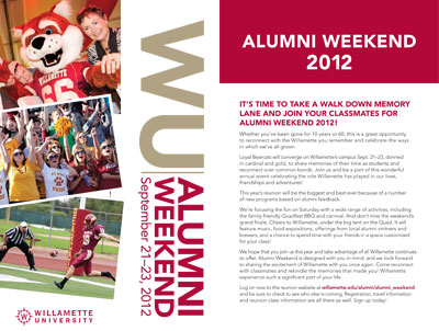 Alumni Weekend Schedule