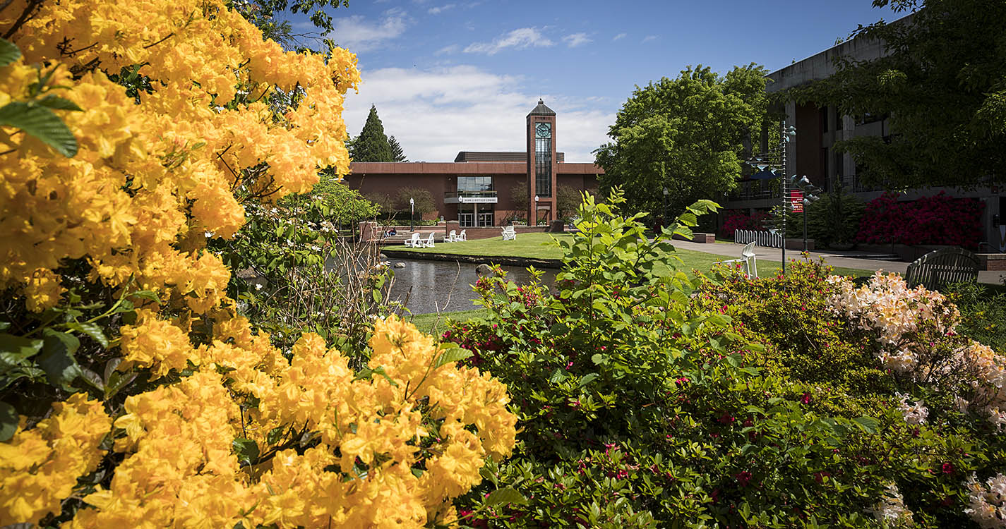 Willamette University Campus in the spring