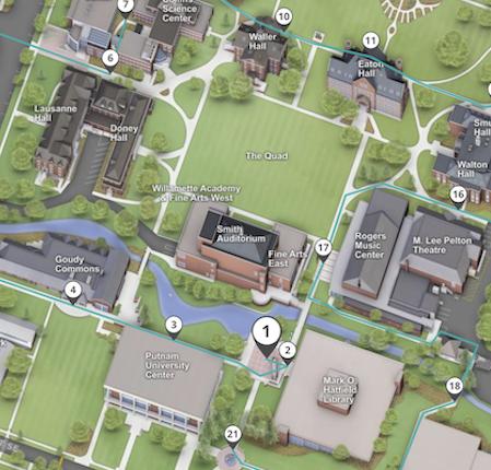 willamette university campus map Admission Visit Campus willamette university campus map