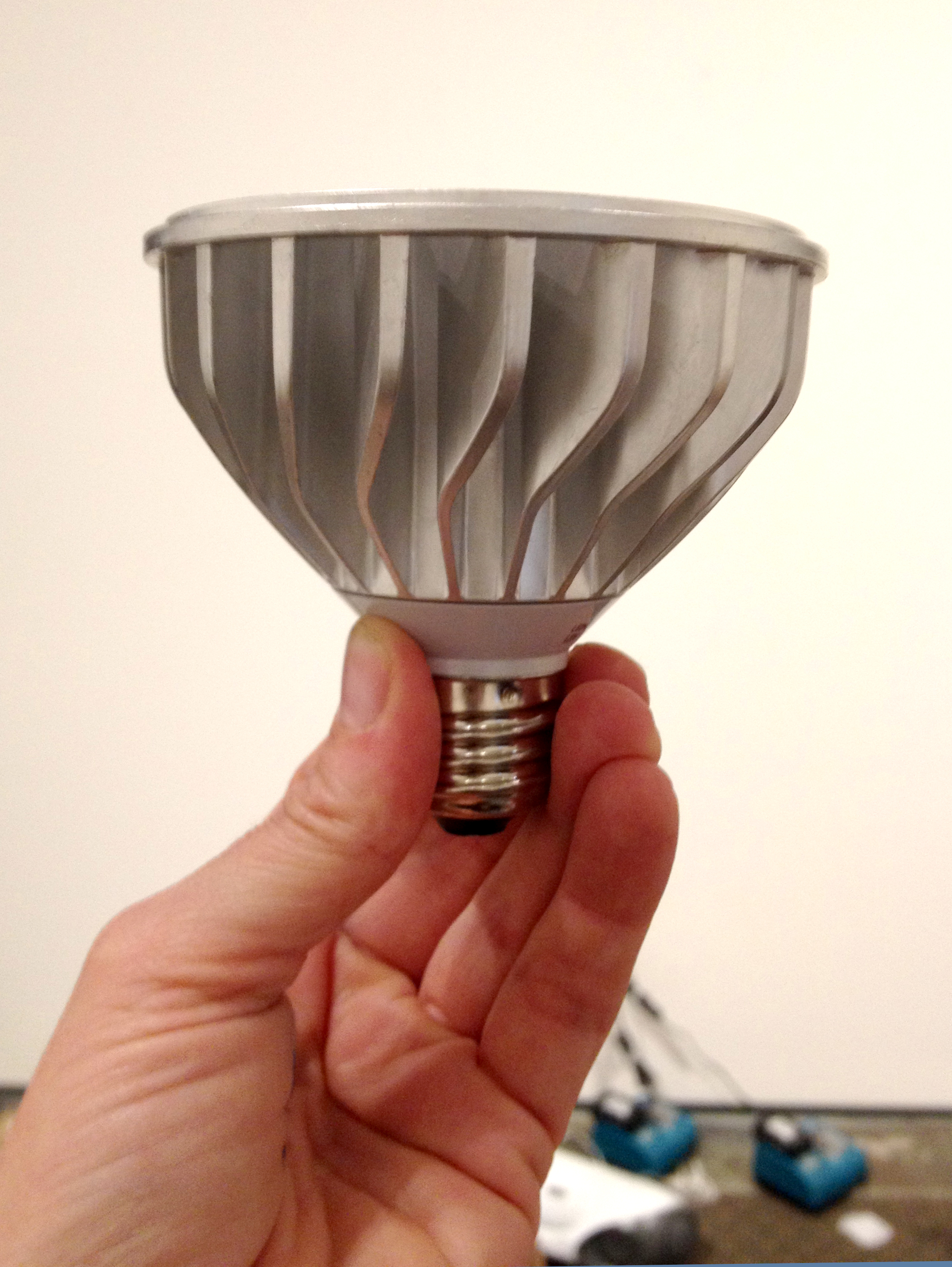 The new energy efficient LED light.