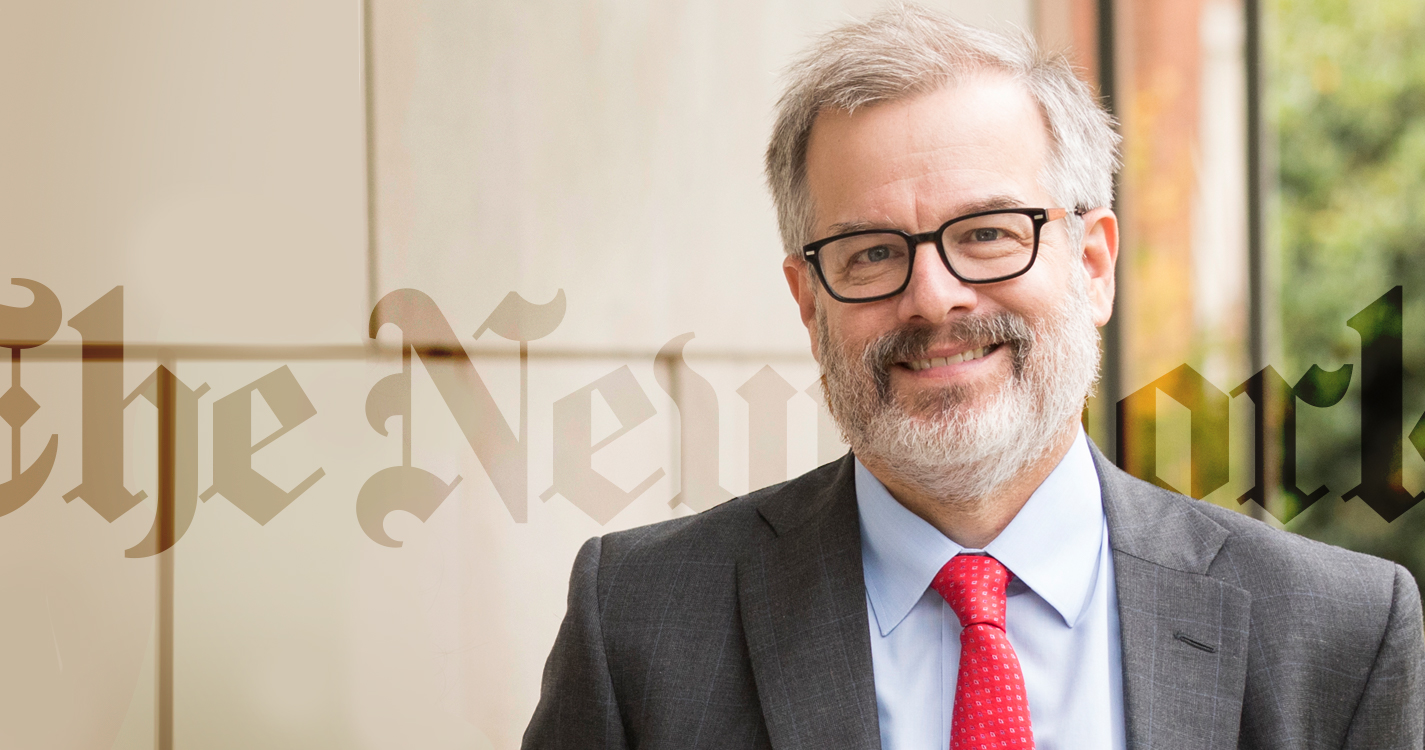 President Steve Thorsett smiling