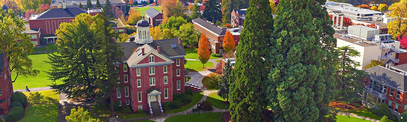 Willamette University aerial photo