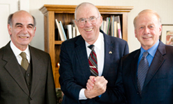 Dean Symeon C. Symeonides, Clyde B. Spence and Interim-President Larry Large
