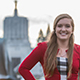 Ashley Evans '18 at the Oregon State Capitol