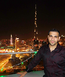 Fakhoury celebrated New Year's Eve in Dubai.