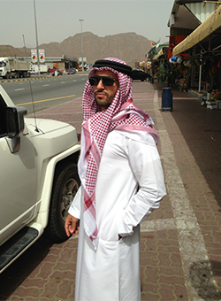 Fakhoury visited a Friday market in Fujairah, United Arab Emirates
