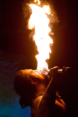 Tolo Tuitele, a fire and knife dancer, will perform at Willamette University's 25th annual Lu'au on April 26.