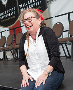 Lynda Barry brought humor — and song — to her opening convocation address.