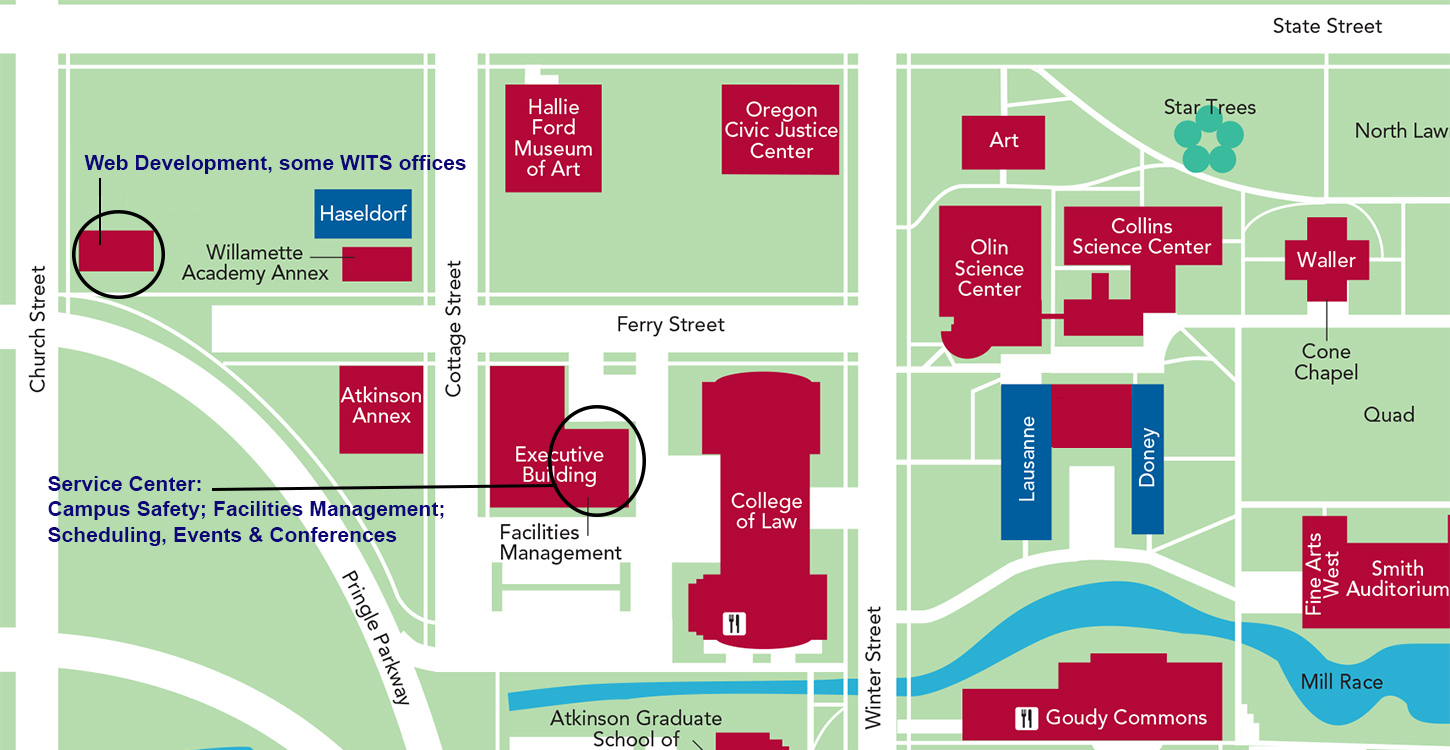 The New School Campus Map.A New Service Center Will Enhance Customer Service