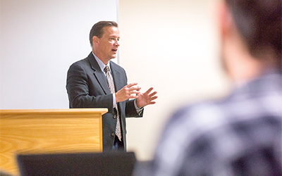 Adjunct Professor Scott Beckstead has been teaching a class on wildlife law and the Endangered Species Act at Willamette's College of Law since 2010.