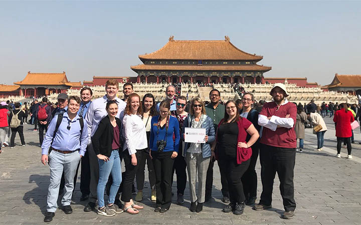 Willamette MBA students visited the Forbidden City in Beijing, China during their spring study abroad trip.