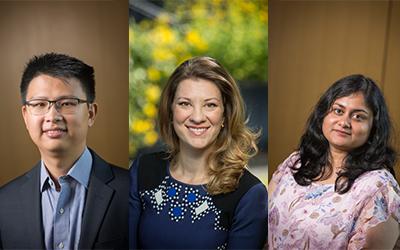 head shots of George Gu, Katherine Skovira, and Anusha Ramesh