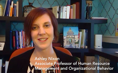 Associate Professor of Human Resource Management and Organizational Behavior Ashley E. Nixon