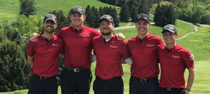 men's golf team at the national championships