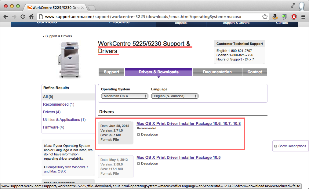 Problem with workcentre 5225 customer support forum.